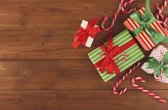 Fond joyeux de Noël, vue supérieure Photographie stock libre de droits