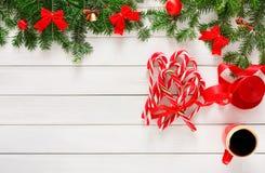 Fond joyeux de Noël, vue supérieure Image stock