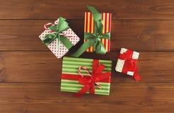 Fond joyeux de Noël, vue supérieure Photo libre de droits