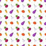 Fond joyeux gai lumineux de ferme avec des légumes illustration libre de droits