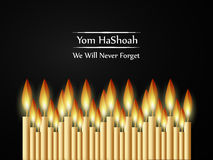 Fond juif de Yom HaShoah Remembrance Day illustration libre de droits