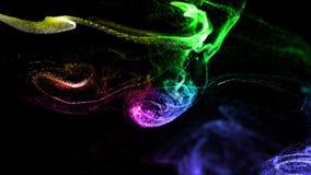 fond 4k, animation d'advection complexe de simulation de particules avec des courants de turbulence, pirouette et boucle dans vis banque de vidéos