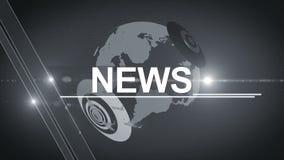 Fond 4K générique d'actualités de globe sans couleur clips vidéos