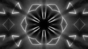 Fond kaléïdoscopique au néon de fractale Contexte abstrait de Digital illustration libre de droits
