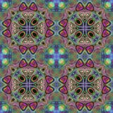 Fond kaléïdoscopique de parc de fleur Photo colorée de Splited dans des tuiles Photos libres de droits