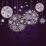 Fond lilas de Noël Photographie stock