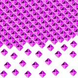 Fond lilas et pourpre des places et triangles illustration de vecteur