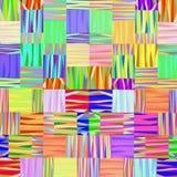 Fond linéaire géométrique multicolore abstrait Images stock