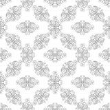 Fond linéal floral Photographie stock libre de droits