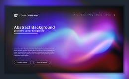 Fond liquide abstrait à la mode pour votre conception de débarquement de page Fond minimal pour pour des conceptions de site Web illustration stock