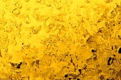 Fond liquide de chrome d'or, contexte de particules de bulle de cercle Photo libre de droits