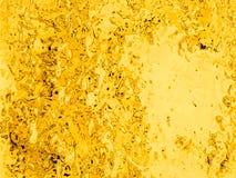 Fond liquide de chrome d'or, contexte de particules de bulle de cercle Image libre de droits