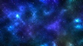 Fond lointain cosmique de galaxie, chimères et St brillant lumineux illustration stock
