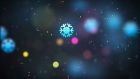 Fond loopable de Noël avec les flocons de neige en baisse gentils illustration libre de droits