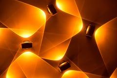Fond lumineux électrique d'or de vacances de LED Photographie stock libre de droits