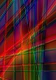 Fond lumineux abstrait des rayures colorées par élément chauffant Images stock
