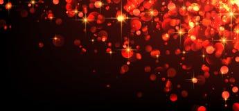 Fond lumineux abstrait rouge Photos libres de droits