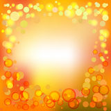 Fond lumineux avec des bulles, spackles Photo stock