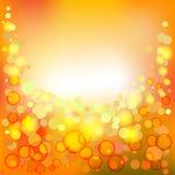 Fond lumineux avec des bulles, spackles Image stock