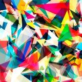 Fond lumineux coloré de polygone de triangle ou Photographie stock libre de droits