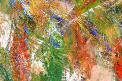 Fond lumineux color? Les courses de la peinture taches oranges sur la toile illustration libre de droits