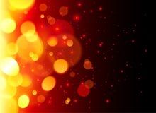 Fond lumineux d'abrégé sur le feu d'effet de bokeh Photographie stock