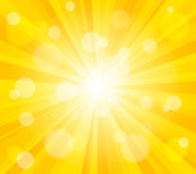 Fond lumineux d'effet du soleil de vecteur Image stock