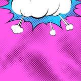 Fond lumineux d'explosion d'art de bruit de bande dessinée Image stock