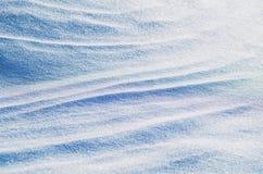 Fond lumineux d'hiver de neige Photos libres de droits