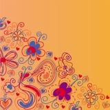 Fond lumineux d'orange de fleurs Photos libres de droits