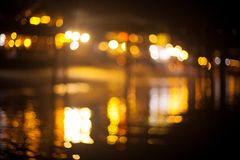 Fond lumineux de bokeh de pont Photos stock
