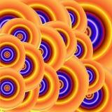Fond lumineux de cercles configuration hypnotique illustration de vecteur