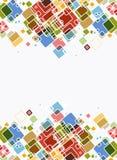 Fond lumineux de couleur de cube abstrait Photo libre de droits