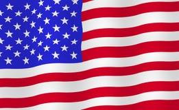 Fond lumineux de drapeau des Etats-Unis Image libre de droits