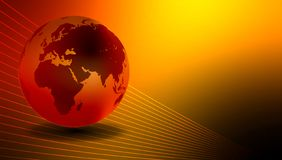 Fond lumineux de globe du monde Illustration de vecteur illustration stock