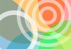 Fond lumineux de gradient de cercles de couleurs Images stock
