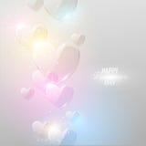 Fond lumineux de jour du ` s de Valentine Images libres de droits