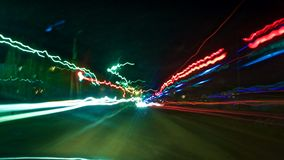 Fond lumineux de la voiture plongée Images stock