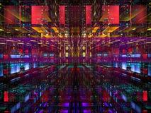 Fond lumineux de technologie avec des blocs - le résumé a digitalement produit de l'image illustration stock