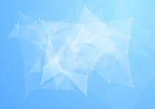 Fond lumineux de technologie de basses poly triangles abstraites Images stock