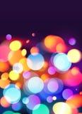 Fond lumineux de vecteur d'effet de la lumière de bokeh de couleurs Photo libre de droits
