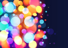Fond lumineux de vecteur d'effet de la lumière de bokeh de couleurs Photo stock