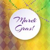 Fond lumineux de vecteur sur Mardi Gras Image stock