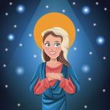 Fond lumineux de Vierge Marie illustration stock