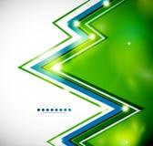 Fond lumineux de zigzag avec des lumières Photo libre de droits