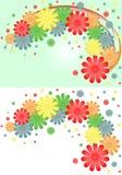 Fond lumineux des fleurs et des rubans multicolores Image libre de droits
