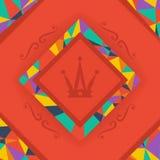 Fond lumineux et symbole de couronne Images libres de droits