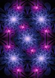 Fond lumineux généré par ordinateur artistique d'illustration de fractales de roses de résumé lumineux unique illustration libre de droits