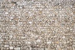 Fond médiéval de mur en pierre Photographie stock