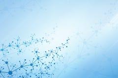 Fond médical abstrait avec le trellis moléculaire Image stock